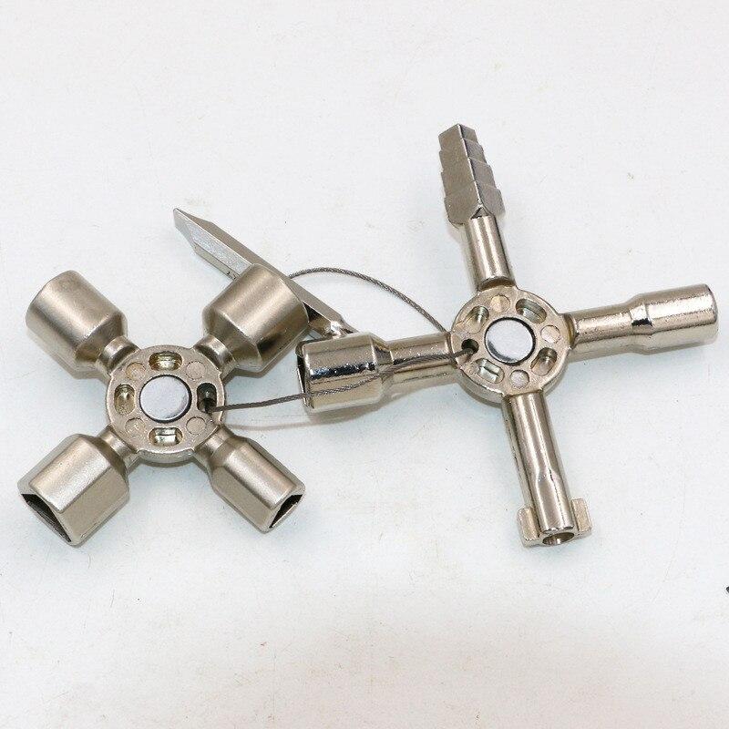 10 In 1 multifunktions Elektrische Schaltschrank Dreieck Schlüssel Schraubenschlüssel Aufzug Tür Ventil Cross2017 Rushed Neue Ankunft Ratsche