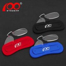 482758d96c Manual visión gafas de lectura sin montura hombres mujeres anti luz azul  Clip de la nariz cómodo dioptría gafas # RD8102C8
