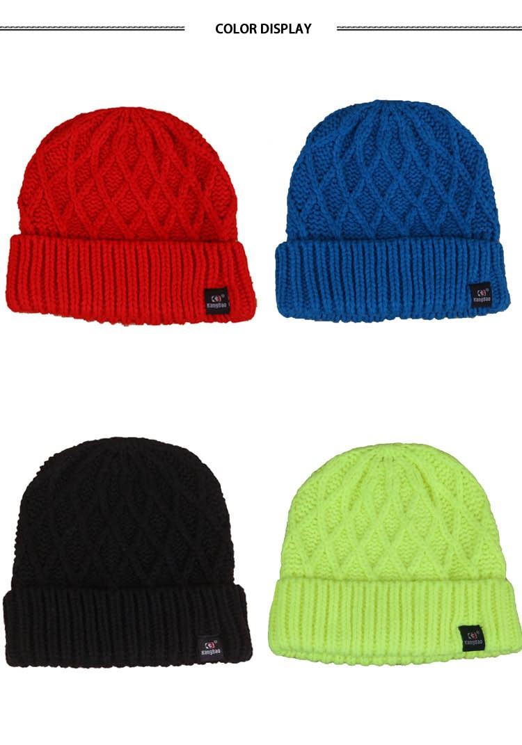 Classic Knitted Pattern Winter Warm Kntted Wool Hat (10)