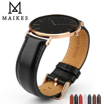 MAIKES Watch Accessories Watch Strap For Daniel Wellington Men Women Classic Black Watch Band with Rose Gold Clasp Wrist Band - DISCOUNT ITEM  35% OFF All Category