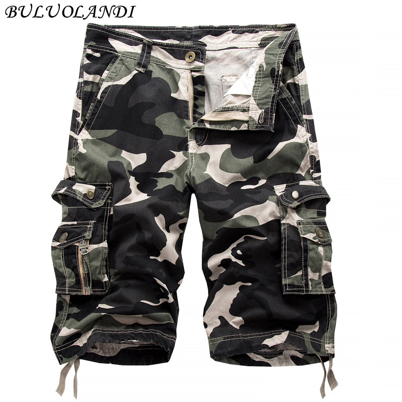 2017 Summer Camouflage Mens Shorts Summer Casual Short Trousers Beach Casual Mens Shorts Pigeon Big Pockets Tide