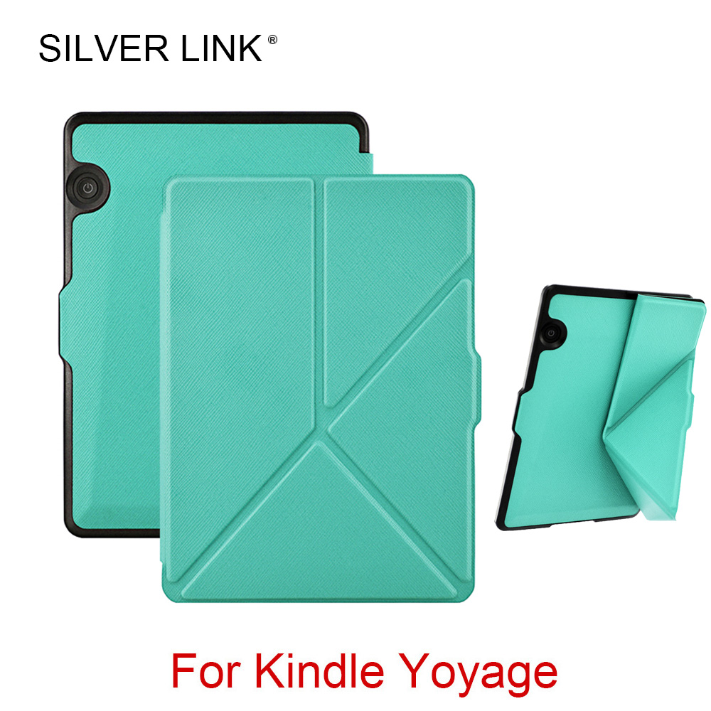 SILVER LINK Kindle Voyage Case UP Faux Leather Skin Stander Cover For Kindle E Reader Auto Sleep/Wakeup Protector Shell обложка для электронной книги tecodes kindle voyage kindle voyage voyage