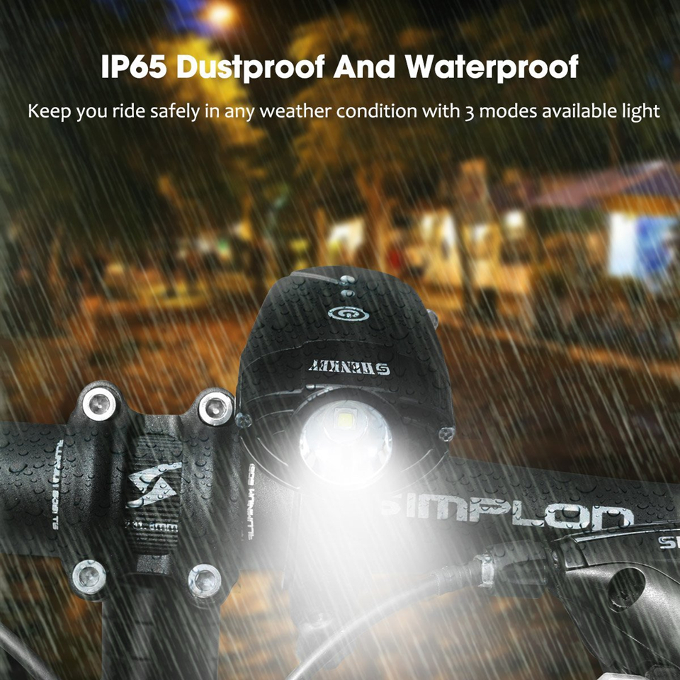 590f08596d6 SHENKEY Bike Lamp Bicycle Light LED Headlight Bicycle Flashlight USB  Rechargeable light Cycling Lantern For Bicycle Accessoires-in Bicycle Light  from Sports ...