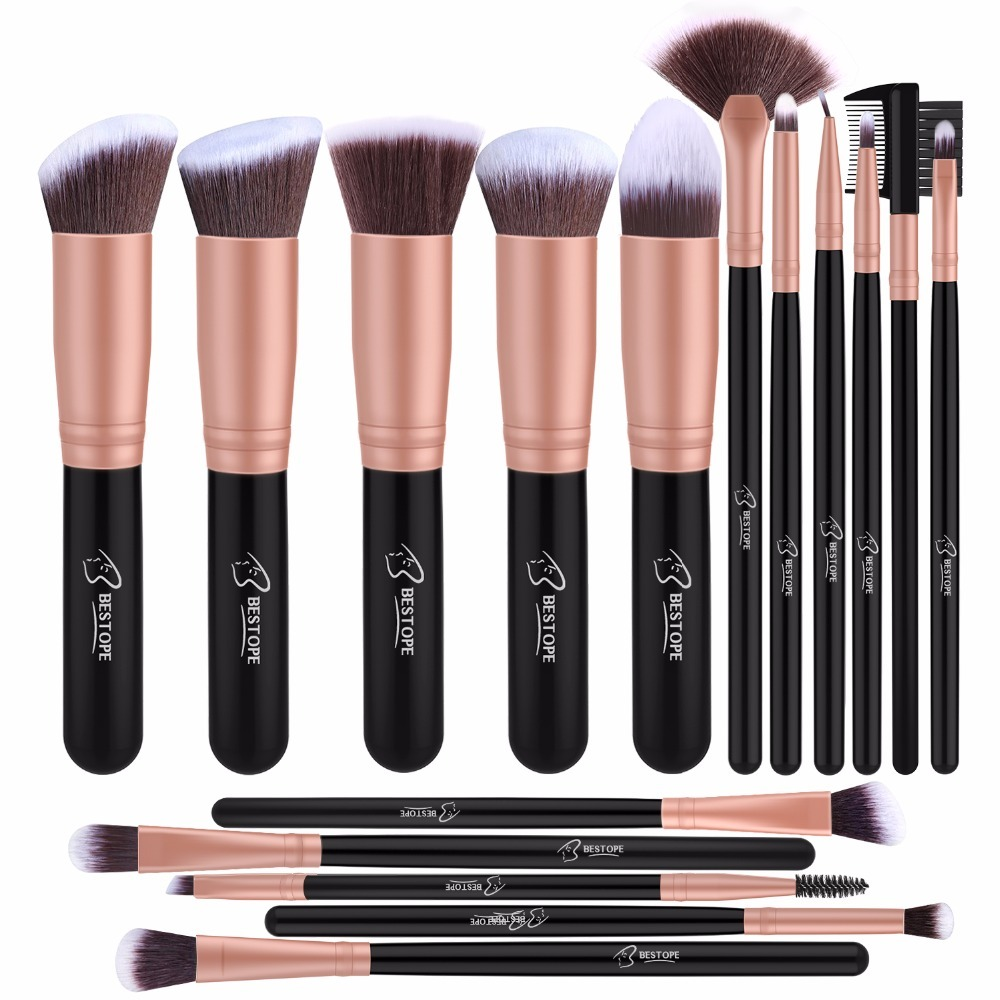 NEW 16pcs Makeup Brushes Set Professional Face Powder Eye Shadow Eyebrow Concealer Lip Cosmetic Brush Tools Rose Gold цена 2017
