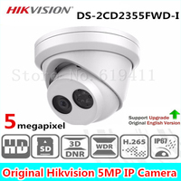 New Released HiK H 265 5MP Network Turret IP Camera DS 2CD2355FWD I English Version Security