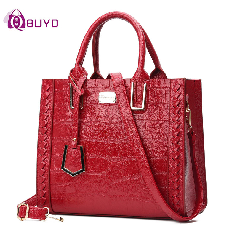 Fashion Crocodile Pattern Shoulder Bag 2017 Women Handbag Ladies Bags Tote Bag Women's Shoulder Bags Clutch Weave Handbags Sac