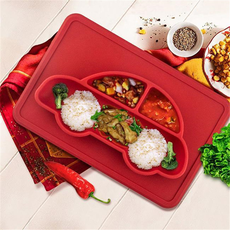 Mother & Kids Solid Feeding Romantic 11.41*7.48*0.78 In Baby Kids Feeding Silicone Mat Table Food Tray Plates Placemat Plate Bowl Dish Punctual Timing