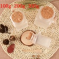 100g  200g  300g Small Glass Bottles With Cork ABS Material Mask Powder Bath Salt Bottle  Frosted Glass Cosmetic Jars