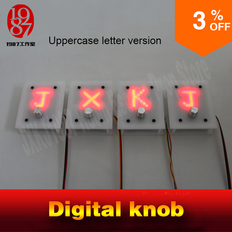 Room escape prop real life adventure digital knob letter version pannel display right letters to unlock Takagism game jxkj1987 недорго, оригинальная цена