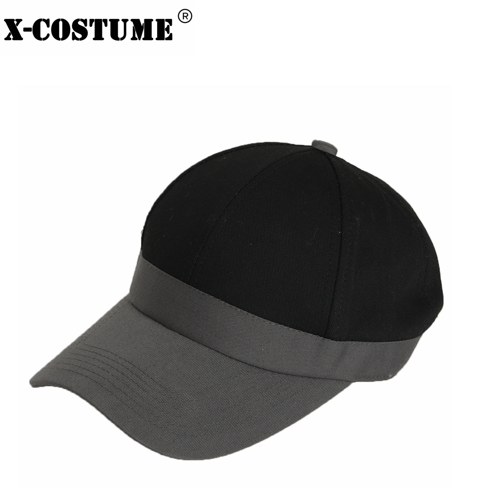 X-COSTUME Danganronpa V3 Saihara Shuichi Hat Cosplay Accessory Black with Dark Grey Cotton Hat 2018 Christmas Gift For Unisex