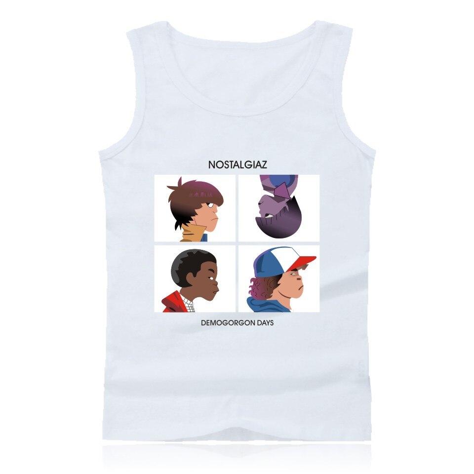 Stranger Things moda camiseta sin mangas para hombre Hip Hop and Stranger Things chalecos de verano de talla grande Tanque Floral para bebés y niñas que combina con el vestido, diadema con botón de verano sin mangas, vestido de verano, ropa de niña pequeña