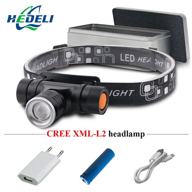 xm l2 led head lamp rechargeable headlamps light head led flashlight zoomble waterproof usb headlight head torch use 18650 2