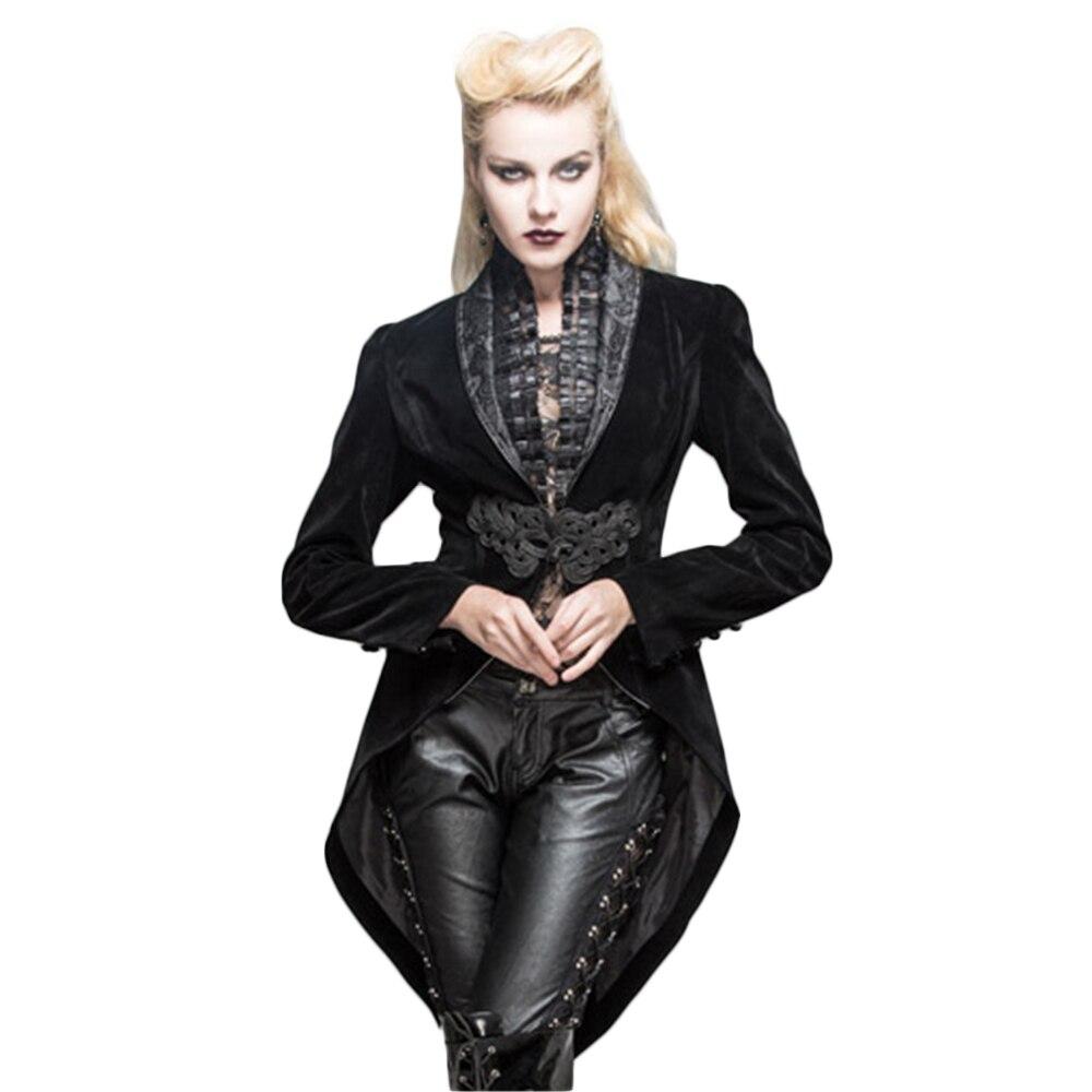 Steampunk Women Swallow Tail Jackets Coats Deep V Neck Renaissance Victorian Formal Coats Long Sleeve Outwear
