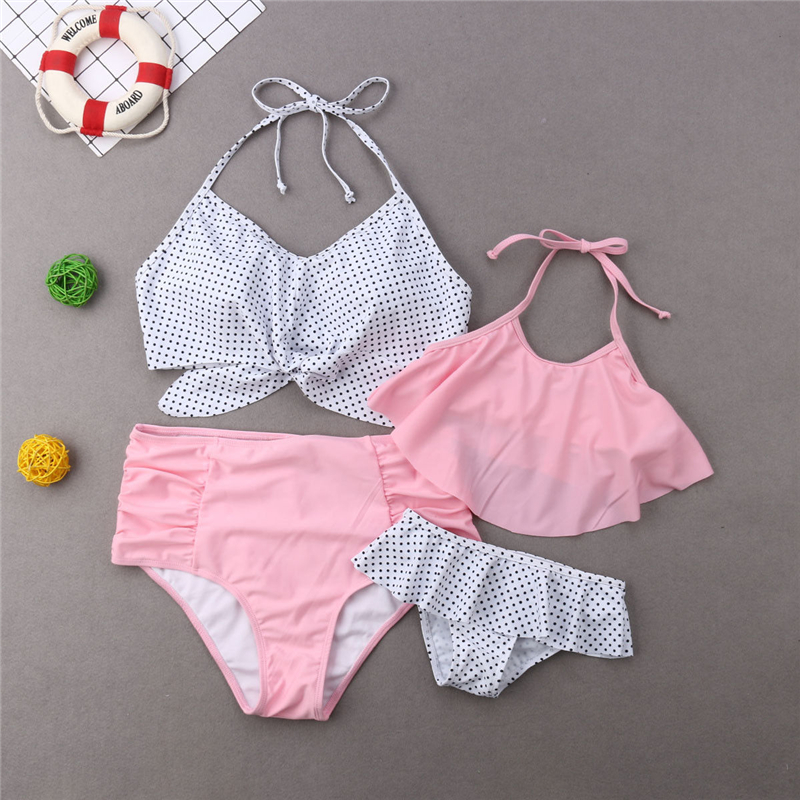 Mom And Daughter Bikini Set Swimwear Father And Son Matching Outfits Women Swimwear Baby Girl Swimsuit Family Matching Outfits