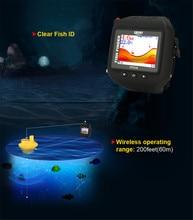 2016 New fish finder ice fishing 180ft/60m built-in Battery Sonar Detection Wrist Watch Waterproof deeper fishfinder GPS FF518