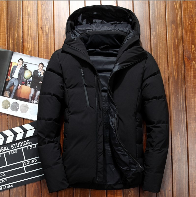 2019 marca de invierno chaqueta de plumón informal para hombre chaqueta y abrigos Parka gruesa para hombre chaqueta de abrigo ropa masculina-in Plumíferos from Ropa de hombre    1