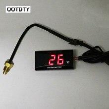 1 conjunto universal da motocicleta dc12v lcd digital termômetro instrumento medidor de temperatura água para koso yamaha racing