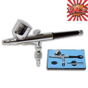 Pulverizador de Pistola de aire de alimentación por gravedad de doble acción, Kit de pintura artística, herramienta para tatuaje de uñas