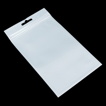 Wholesale 800Pcs/Lot 10cm*18cm Ziplock Bag White Clear Plastic Storage Bag Self Seal Zipper Package Pouch Polybag With Hang Hole