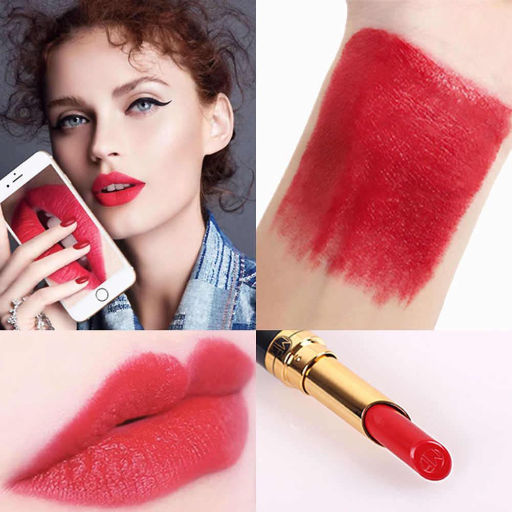 Lápiz de labios brillante de terciopelo mate de 12 colores, bálsamo labial resistente al agua duradero, tinte labial rojo desnudo, cosmético de maquillaje coreano TSLM2