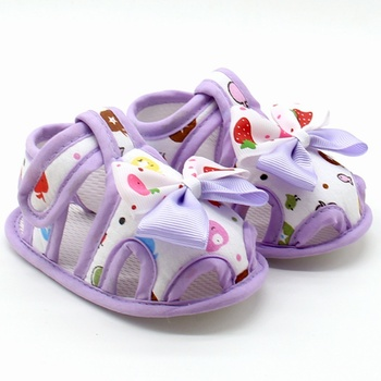 Flower Kids Sandals For Girls Summer Princess Baby Toddler Children Soft Cotton Fabric Shoes 1