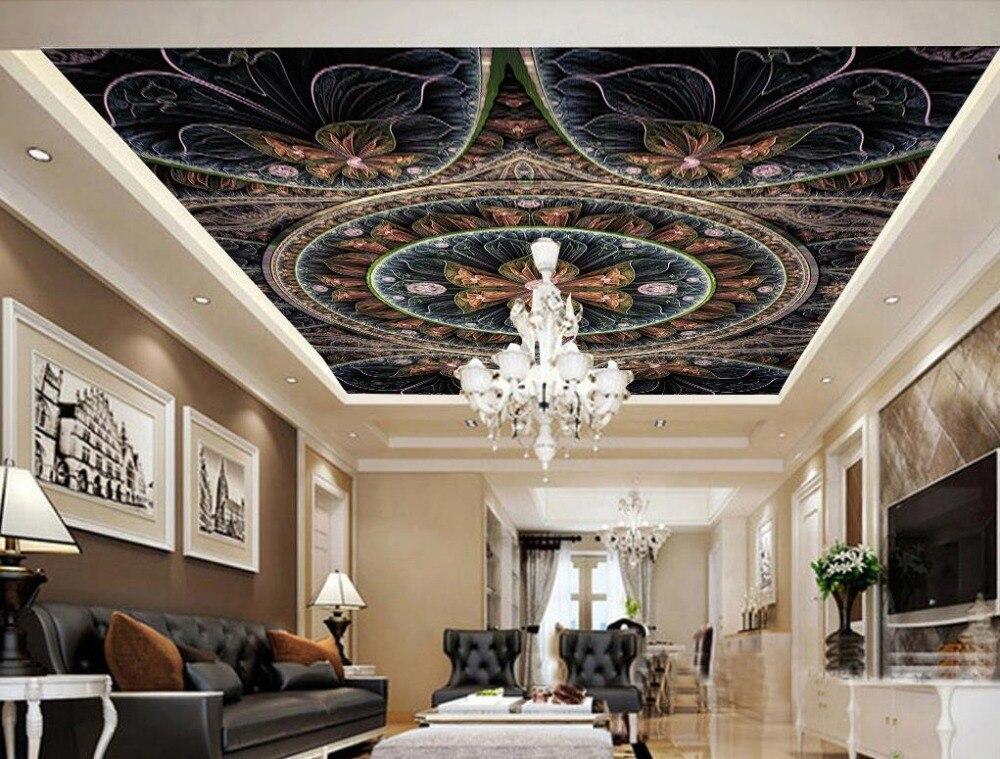 Us 1548 57 Off3d Sufitu Europejska Tapety Sypialnia Kwiaty Tapeta Dekoracyjna Sufit 3d Włókniny Dekoracyjne Obrazy W Tapety Od Majsterkowanie Na
