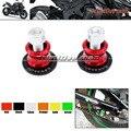 Para kawasaki z750 z1000 z250 cnc de aluminio basculante carretes deslizante 10mm tornillos del soporte rojo