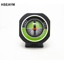 HSEAYM High-precision Vehicle Car Slope Meter Level Car Compass Luminous Gradient Instrument Measuring Tilt Angle Built-in LED(China)
