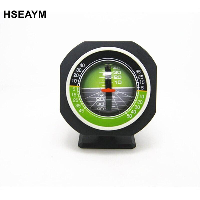 HSEAYM High precision Vehicle Car Slope Meter Level Car Compass Luminous Gradient font b Instrument b