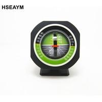 HSEAYM High Precision Vehicle Car Slope Meter Level Car Compass Luminous Gradient Instrument Measuring Tilt Angle