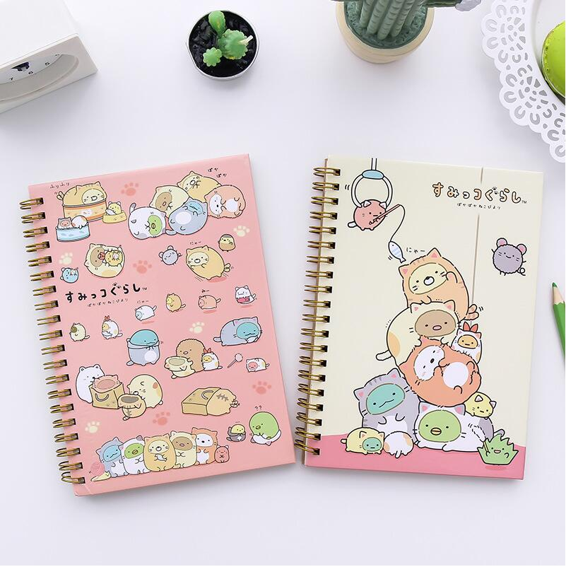 1 Pz/lotto fumetto Bobina A Spirale Notebook Diary Journal Libro tascabile