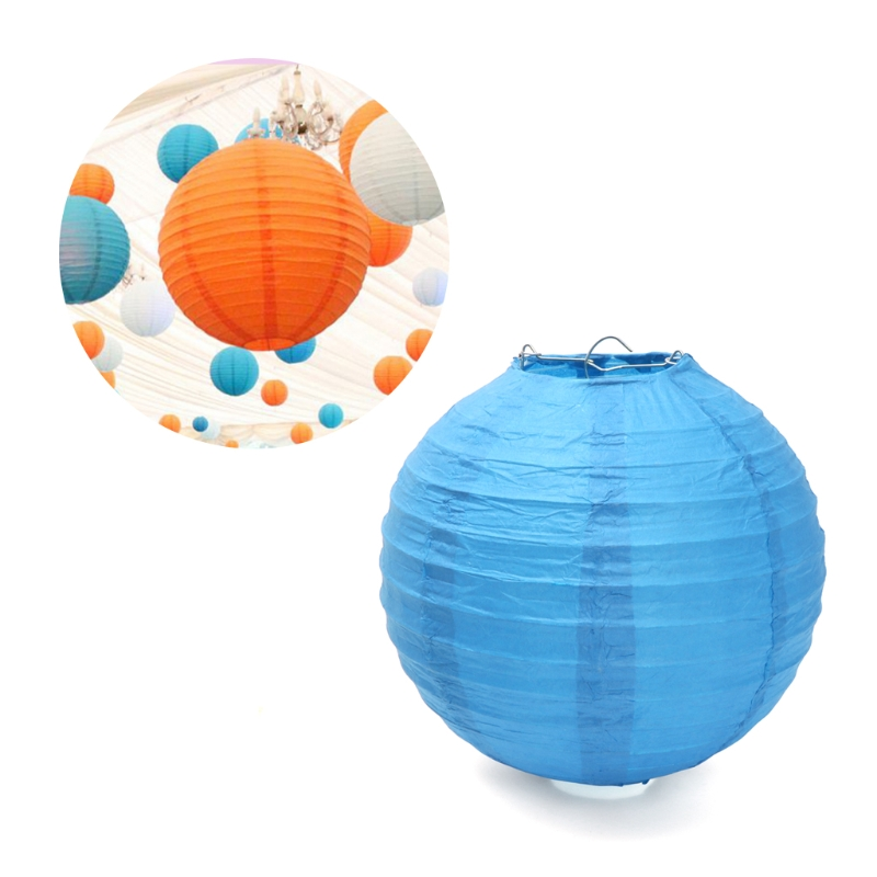 1Pc 20cm Round Paper Lanterm Chinese Colorful Lamp Wedding Party Home DIY Decoration NEW &K125&