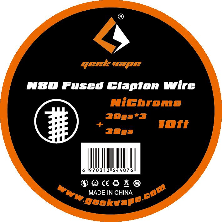 Original GeekVape N80 Fused Clapton Wire(30ga*3+38ga) For Electronic Cigarette Tank Vape Accesorry