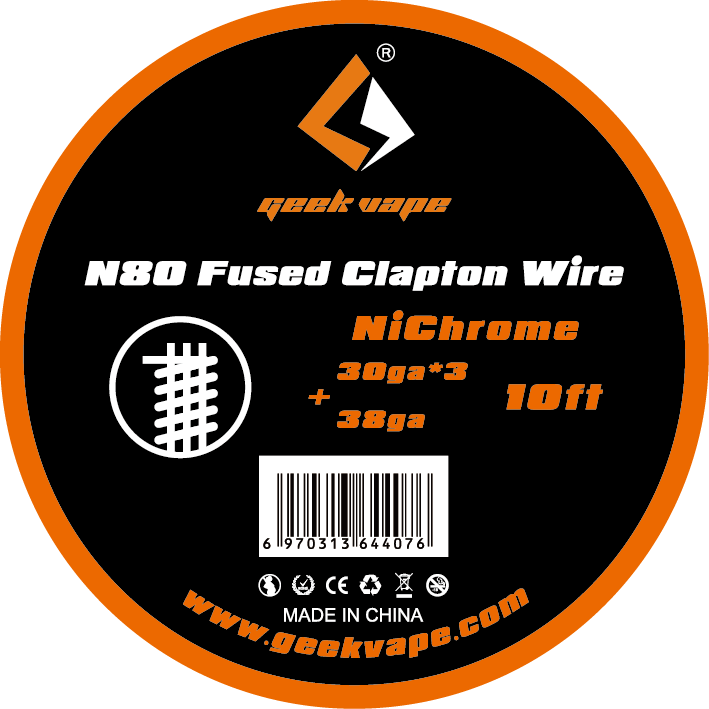 original GeekVape <font><b>N80</b></font> Fused clapton <font><b>wire</b></font>(30ga*3+38ga) for electronic cigarette tank vape accesorry image