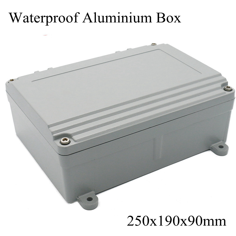 FA15 4 250x190x90mm Aluminum Waterporrf Enclosure Sealed Project Electrical Wire Junction Case Distribution Box 250 190