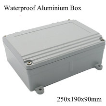 FA15-4 250x190x90mm Aluminum Waterporrf Enclosure Sealed Project Electrical Wire Junction Case Distribution Box 250*190*90mm(China)