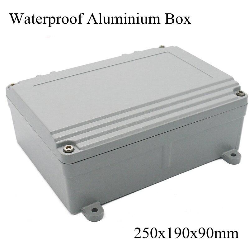 FA15-4 250x190x90mm En Aluminium Waterporrf Enceinte Étanche Projet Cas de Jonction de Fil Électrique Boîte de Distribution 250*190*90mm