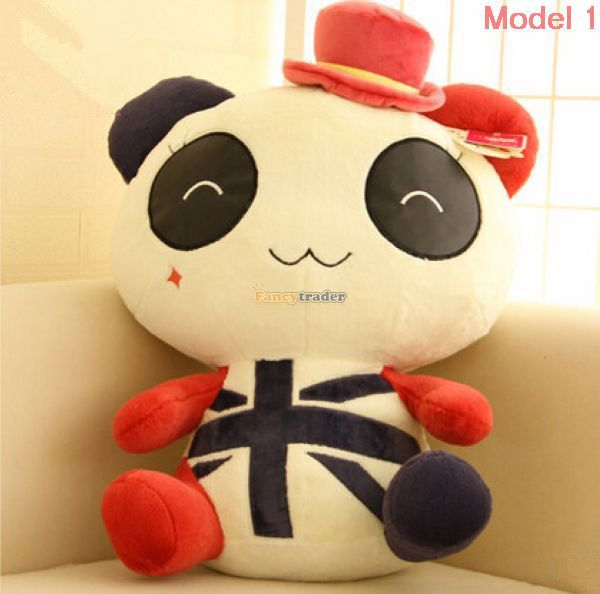 Fancytrader 26'' / 65cm Funny Stuffed Lovely Giant Plush Panda Toy, 4 Models Available, Great Gift, Free Shipping FT50464 1pc oversize huge 80cm funny stuffed simulated panda toy giant filling panda plush doll nice gift and decoration
