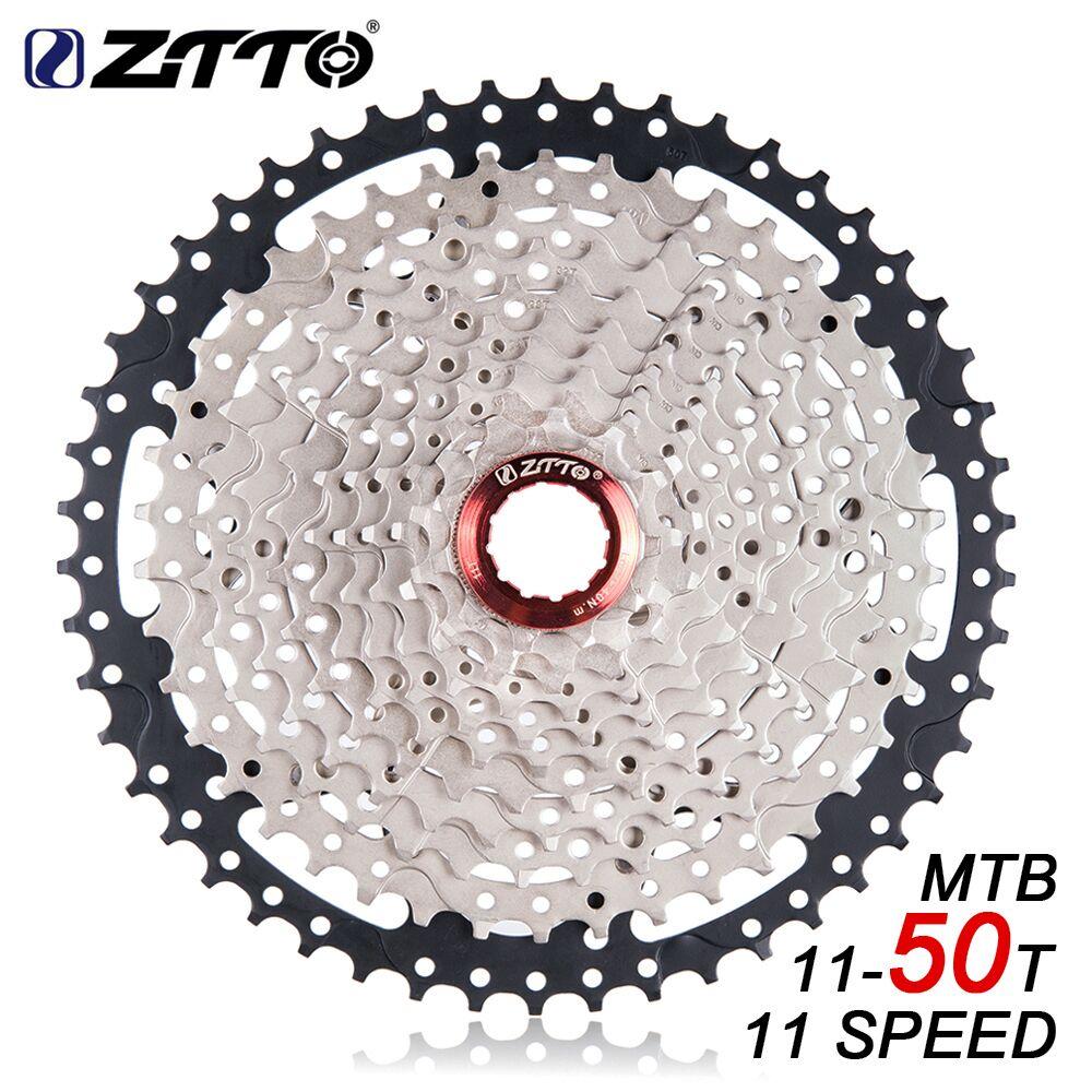 ZTTO 11s 11 Speed 11 50t Freewheel Cassette Black Silver Flywheel Wide Ratio durability for MTB
