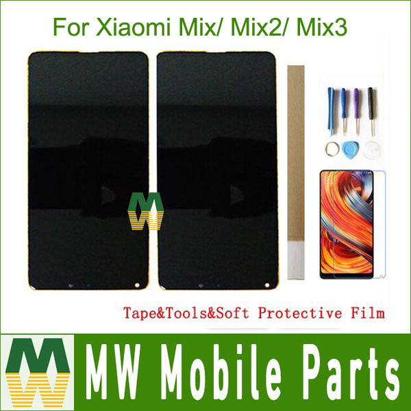 Original For Xiaomi Mix Mix2 Mix 2S Mix3 Mix 3 LCD Display With Touch Screen Sensor Digiziter Assembly With KIT Black White