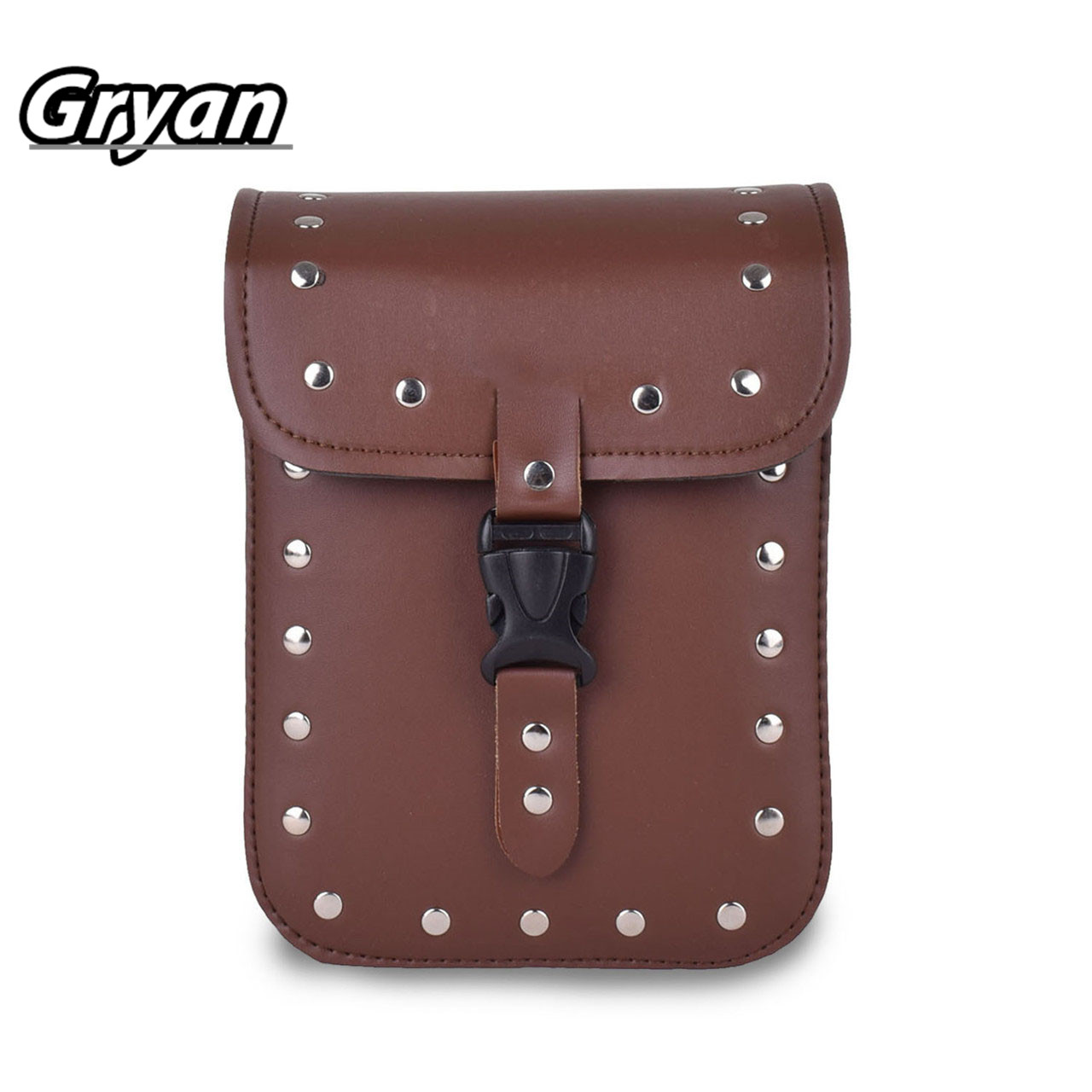 19*11*24cm  Motorcycle Saddle Bags Cruiser Vehicle Leather Motorbike Side Tool Tail Head Bag Luggage Borsello Moto For Harley