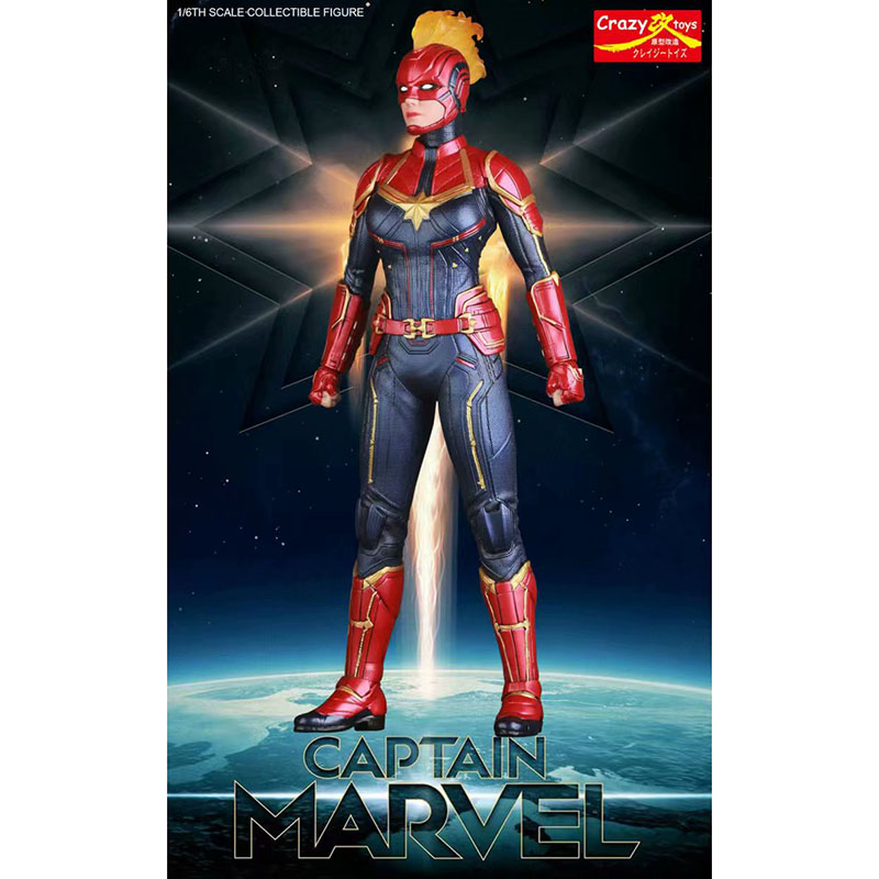 Anime 1 6 Scale Painted Figure Captain Marvel Crazy Toys Action Figure Avengers Endgame Captain Marvel