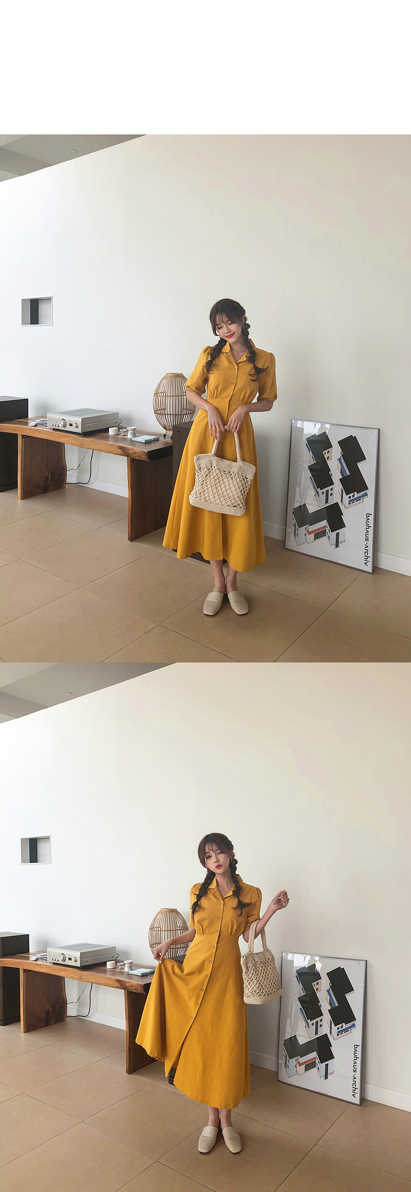 Retro Lady Style a Line Long Dress Puff Sleeve Slim Waist Long Dress Summer Elegant Robe Longue Vestido Largo Vestiti Lunga 11