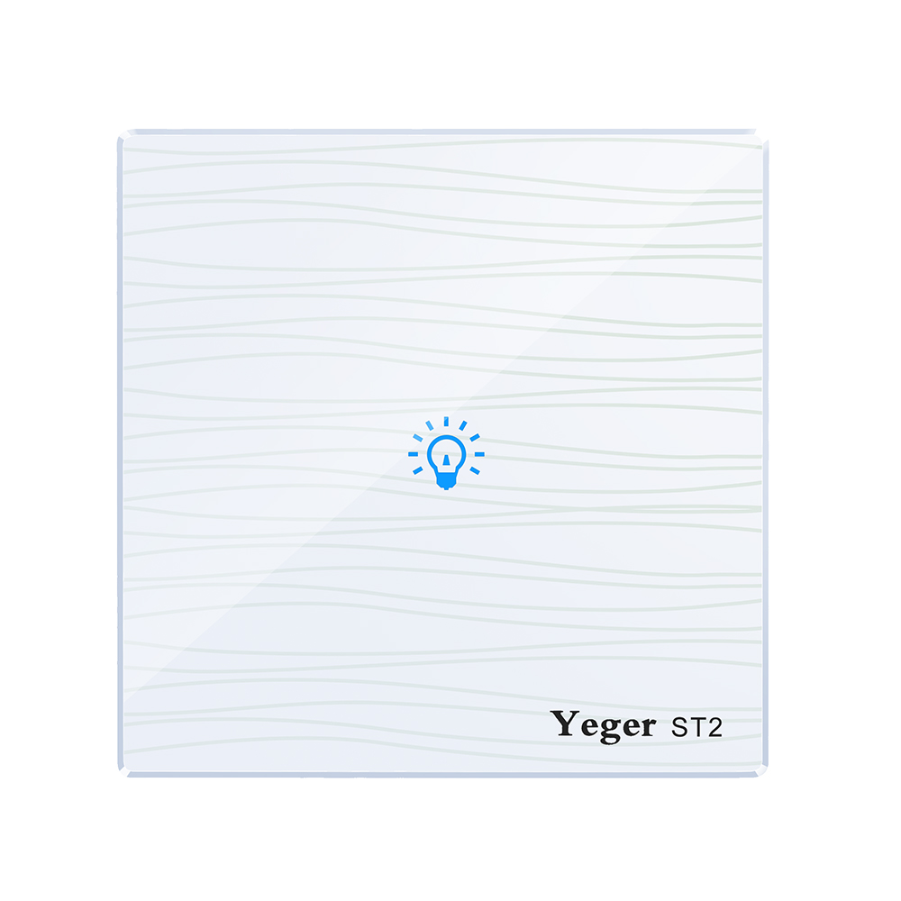 Yeger EU/UK Standard Touch Switch 1 Gang 1 Way,Crystal Glass Switch Panel,Single FireWire touch sensing wall switch smart home uk standard crystal glass panel wireless remote control 1 gang 1 way wall touch switch screen light switch ac 220v