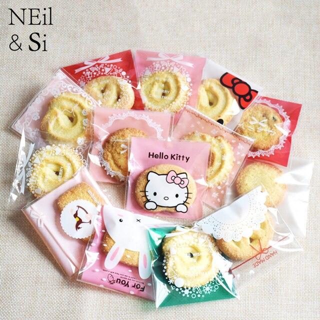 Plastic Baking Cookies Bag Handmade Bakery Biscuits Snack Candy Handmade  Soap Gift Package Bags Self-adhesive Ziplock 54df6859057c8