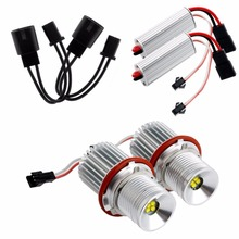 2x Error Free 40W LED Angel Eyes Halo Ring Lights Marker Bulb For bmw E39 E60 Auto Lamps