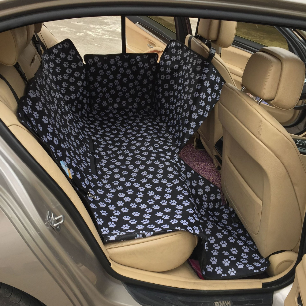 Oxford fabric paw pattern car pet seat covers waterproof back bench seat travel accessories car for Travel gear car