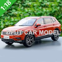 Diecast 1:18 Alloy Toy Sports Car Model TIGUAN L 2017 of Children's Toy Cars Original Authorized Authentic Kids Toys Gift