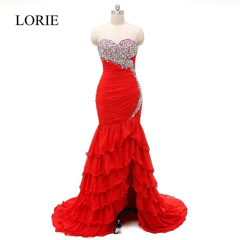 35c397775da Bling Mermaid Prom Dresses Long Ruffles Pageant Women Formal Party Dress  2018 Sweetheart Elegant Evening Gowns Off Shoulder