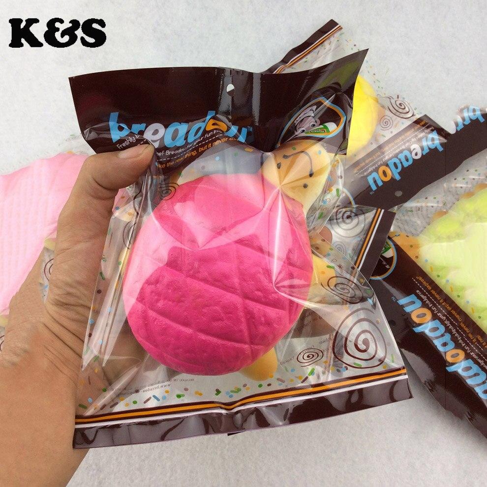 1pcs retail Cute squishy Pineapple Turtle Buns Bread breadou Jumbo Tortoise Kawaii food Squishies Toys pu